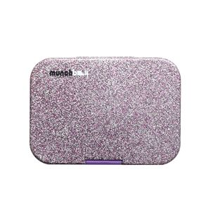 Munchbox Sparkle Purple Midi5 Artwork Tray Purple Lunchbox
