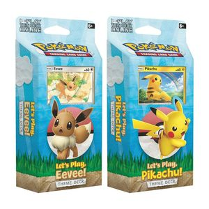 Pokemon TCG Let's Play Pikachu/Eevee Theme 60-Card Deck [Includes 1]