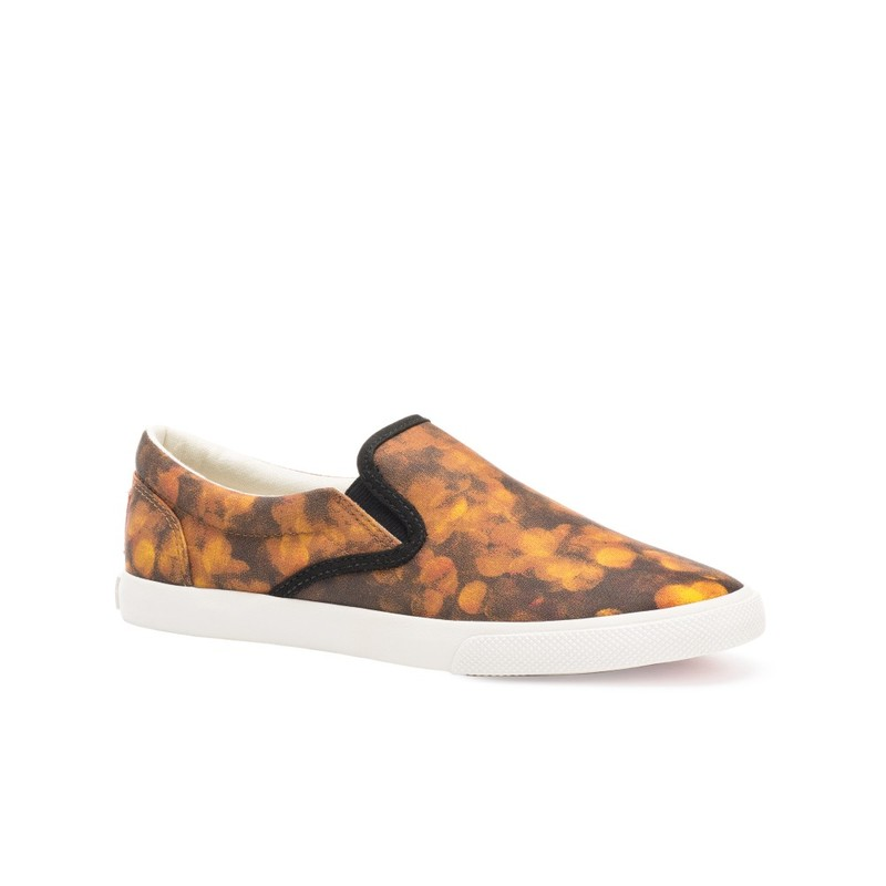 Bucketfeet Gold Focus Black/Gold Low Top Canvas Slip Onwomen'S Shoes Size 8