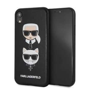 Karl & Choupette Leather Embossed Case Black for iPhone XR