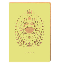Portico Design Cancer Zodiac Yellow A6 Notebook
