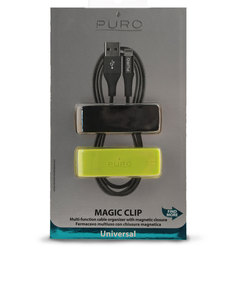 Puro Magic Clip 2 Multi-Function Cable Organizer 2Pcs Blk/Lime Green