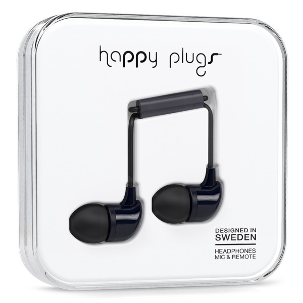 Happy Plugs Black In-Earphones