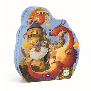 Djeco Silhouette Puzzles Vaillant & the Dragon [54 Pieces]