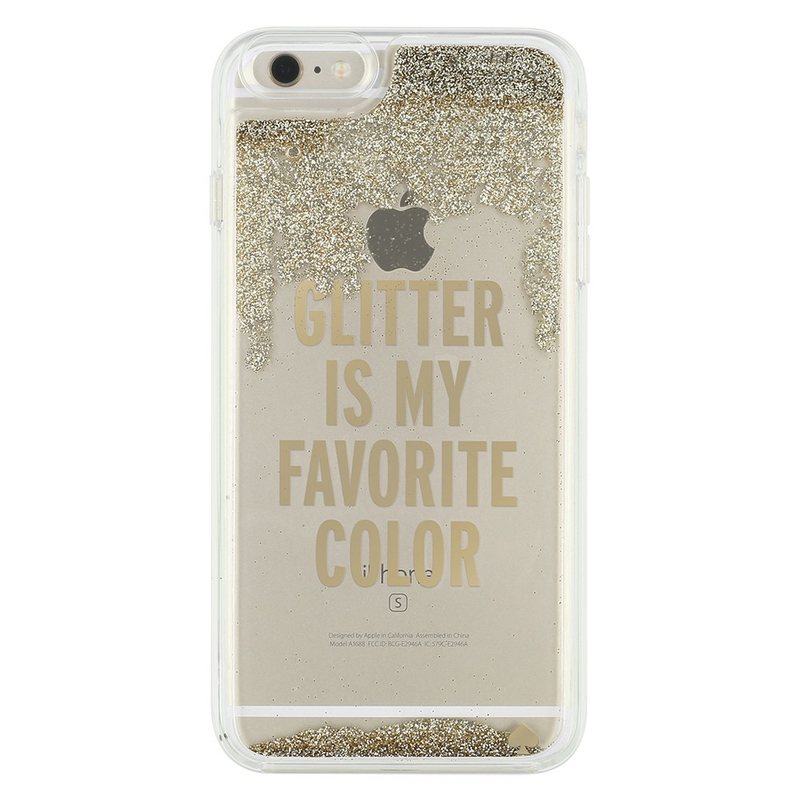 Kate Spade New York Liquid Glitter Case Is My Favorite Color Gold Clear IPhone