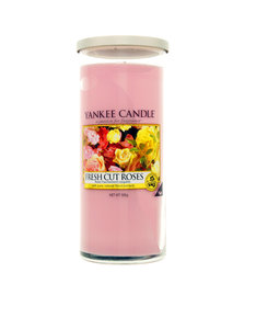 Yankee Candle Decor Large Pillar Frest Cut Roses