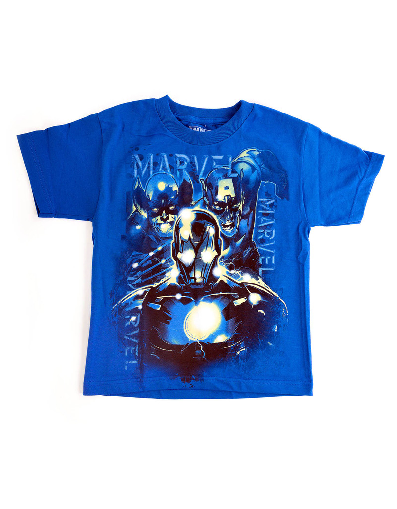 Marvel Crowded In Royal Youth T-Shirt