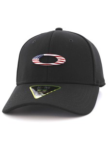 Oakley Tincan American Flag Men's Cap Jet Black