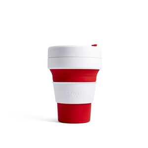 Stojo Pocket Collapsable Cup Red 355ml