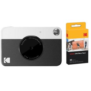 Kodak PRINTOMATIC Instant Digital Camera Black + Zink Paper [Pack of 40 Prints]