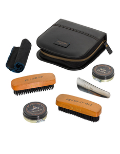 Ted Baker Black Case Shoe Shine Kit