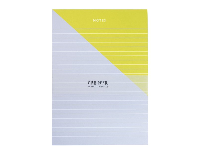 ohh deer colour blocking a5 notepad writing pads notebooks