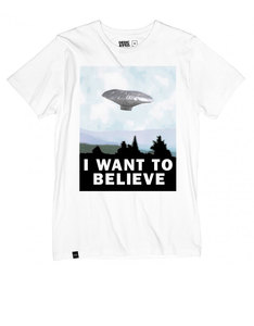 Dedicated Want To Believe White T-Shirt