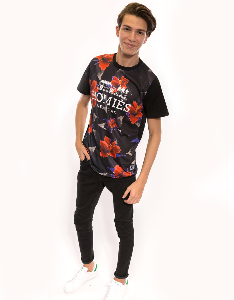 Homies Nightshade Floral Panel Black Men'S Tee S
