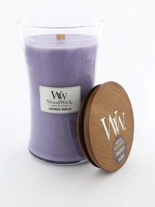 Woodwick Large Candle Jar Lavender Vanilla
