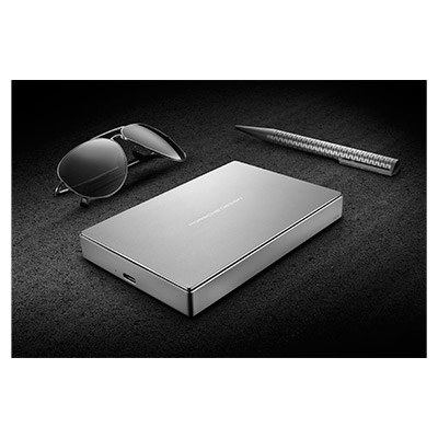 lacie porsche design 2tb mobile drive usb c silver. Black Bedroom Furniture Sets. Home Design Ideas