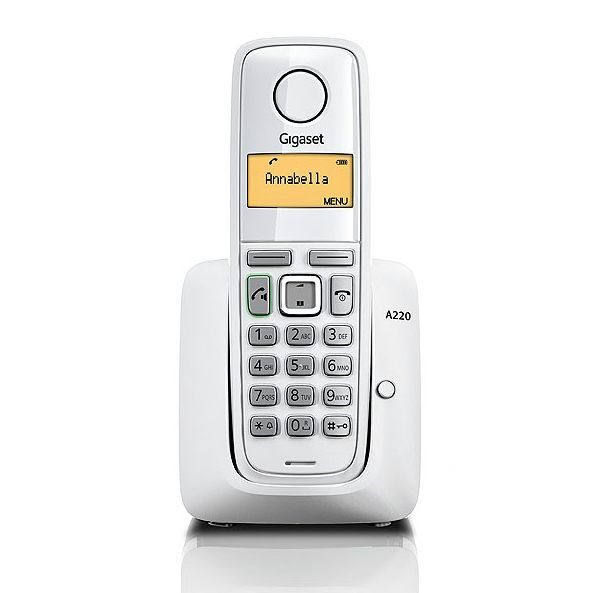 Gigaset A220 White Dect Phone