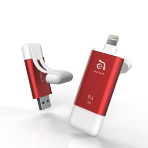 Adam Elements iKlips II 64GB Red Mobile Data Storage