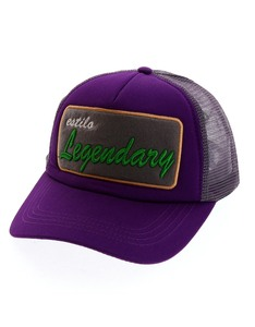 B180 Estillo Legendary4 Purple/Grey Cap
