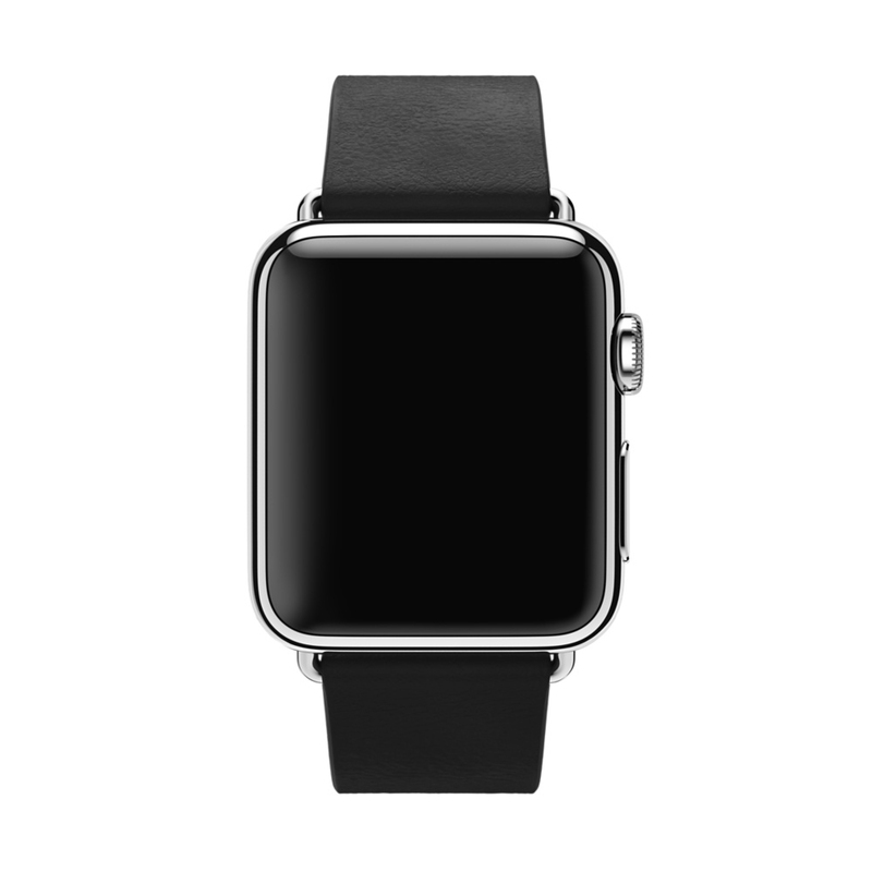 Apple Watch Black Modern Buckle 38mm Large