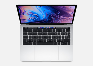 MacBook Pro 13-inch with Touch Bar Silver 2.4GHz Quad-Core 8th-Generation Intel-Core i5/512GB Arabic/English