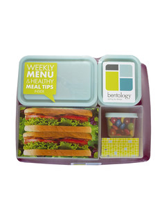 Bentology Bento Box-ClassicRaspberry/Blue [Set of 6]