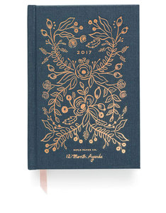 Rifle Paper Co Hardcover Midnight 2017 Agenda