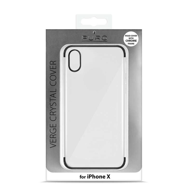 finest selection 1f6e0 3d174 Puro Verge Case Clear Black for Iphone X