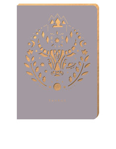 Portico Design Taurus Zodiac Gray A6 Notebook