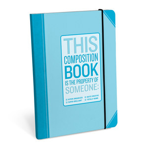Knock Knock Composition Book Hyper Organized Notebook