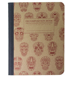 Decomposition Notebook Sugar Skulls One Color [Large]