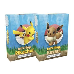 Pokemon TCG Let's Play Pikachu Eevee Theme Deck Box [Includes 1]