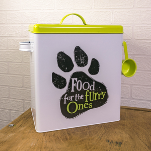 The Bright Side Food For The Furry Ones Dog Tin