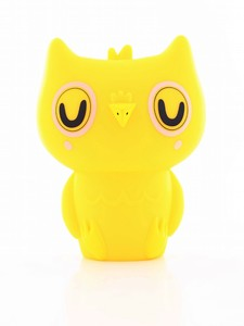 Petit Monkey Owl Night Light Yellow