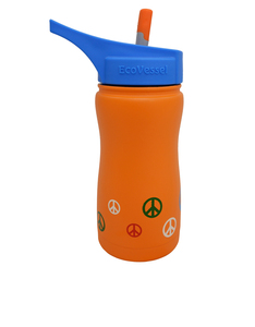 Eco Vessel Frost Orange Peace Water Bottle 13oz 400ml
