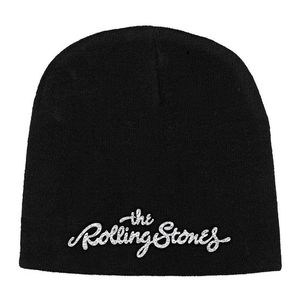 Rolling Stones Logo Embroidered Beanie Black