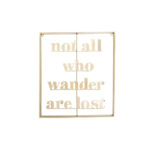 Not All Who Wander are Lost Metal Word Art