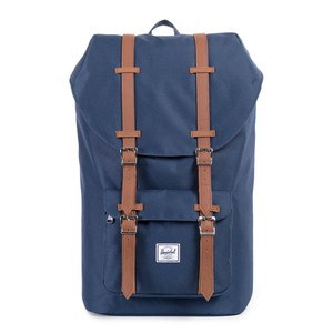 Herschel Little America Navy/Tan Synthetic Leather Backpack