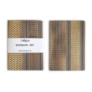 Little Majlis Ghutra Gold A5 Notebook Set Of 2