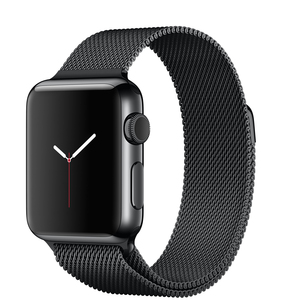 Apple Watch 38mm Space Black Stainless Steel Case With Space Black Milanese Loop