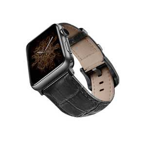 Viva Madrid Montre Crox Black/Black Leather Strap for Apple Watch 42/44mm