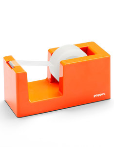 Poppin Inc Tape Dispenser & Tape Orange