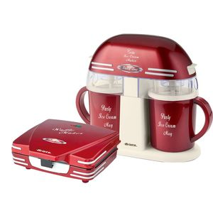 Ariete Party Time Twin Ice cream Maker with Waffle Maker [Bundle]