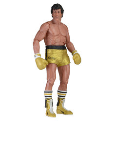 NECA Rocky 40th Anniversary 7 Scale Action Figure Ser 1 Rocky Gold Trunks Version