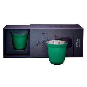 Rovatti Pola Stainless Steel Cup Green 85ml