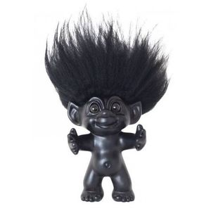 Good Luck Troll Black with Black Hair Statue [12 cm]