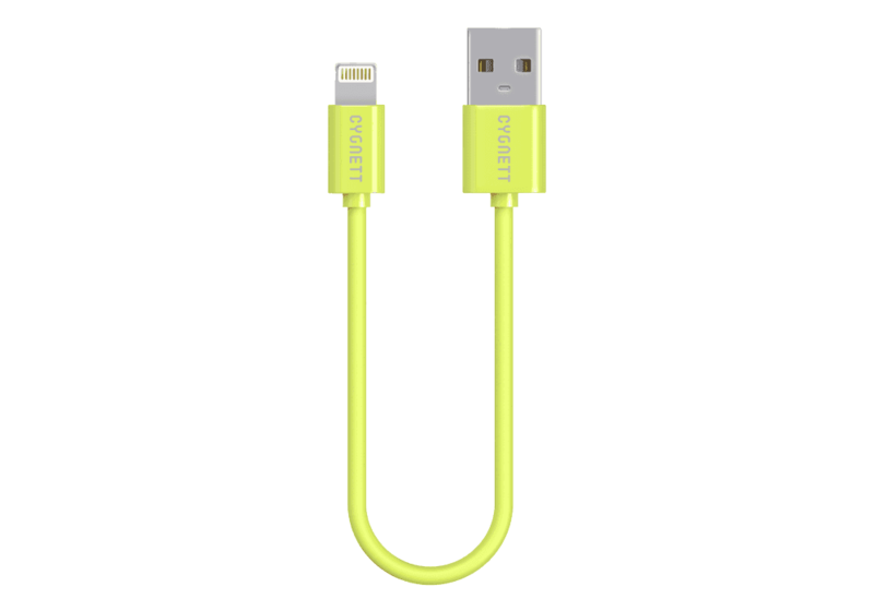 Cygnett Lightning Charge & Sync Cable 10Cm Round Green