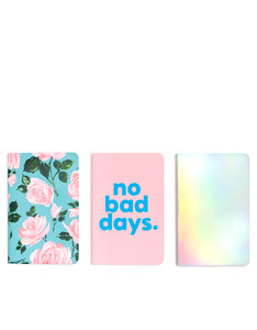 Ban.do Hold That Thought Notebook Set Rose Parade/No Bad Days