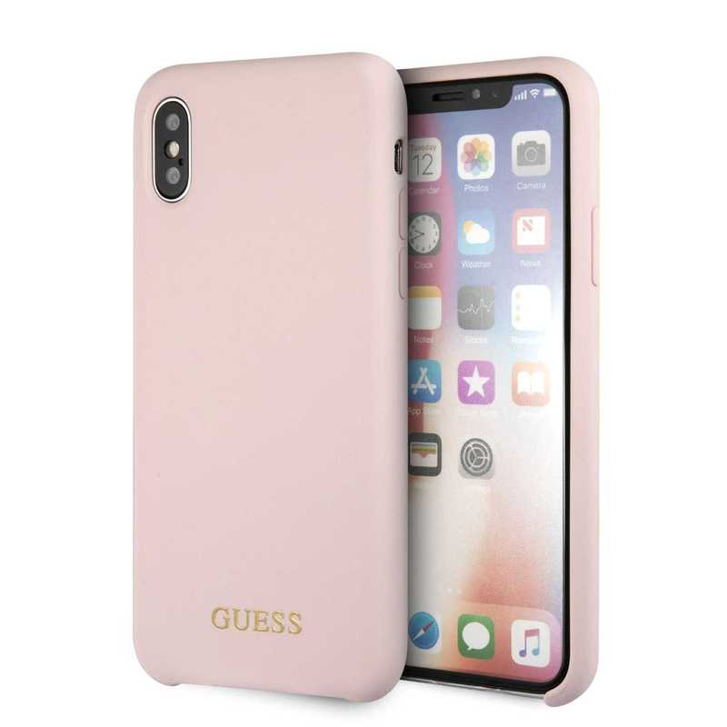 promo code 87836 df327 Guess Silicone Case Light Pink for iPhone XS