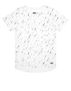 Dedicated Bergen Scribble Pattern White T-Shirt